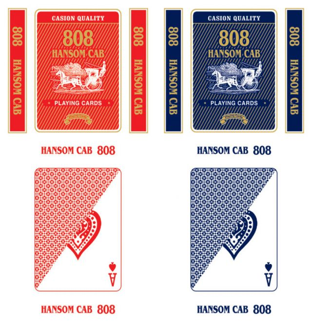 808 hansom cab playing cards display box design-1