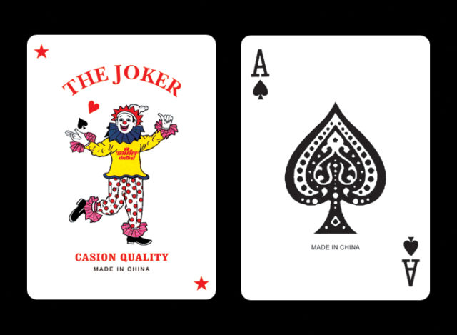 808 hansom cab playing cards joker and a